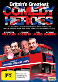 Britain's Greatest Comedy Heroes - Ronnie Barker, Sid James, Leonard Rossitter, Kenneth Williams (4 Disc Set) on DVD