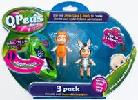 QPeas: Posable Mini Dolls - 3-Pack (Poppy & Zada)