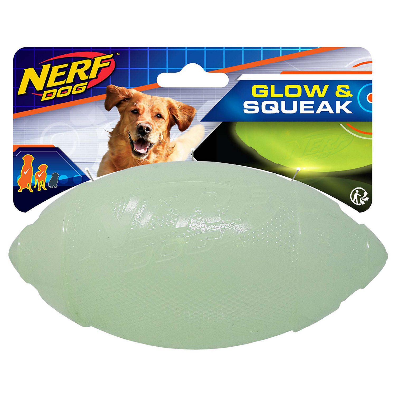 Nerf Dog Glow & Squeak Classic Football image