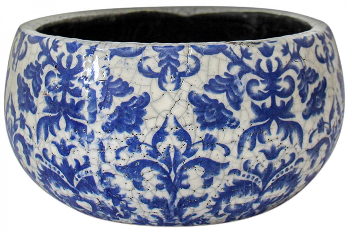 LaVida: Pot - Damask Blue (Large) image