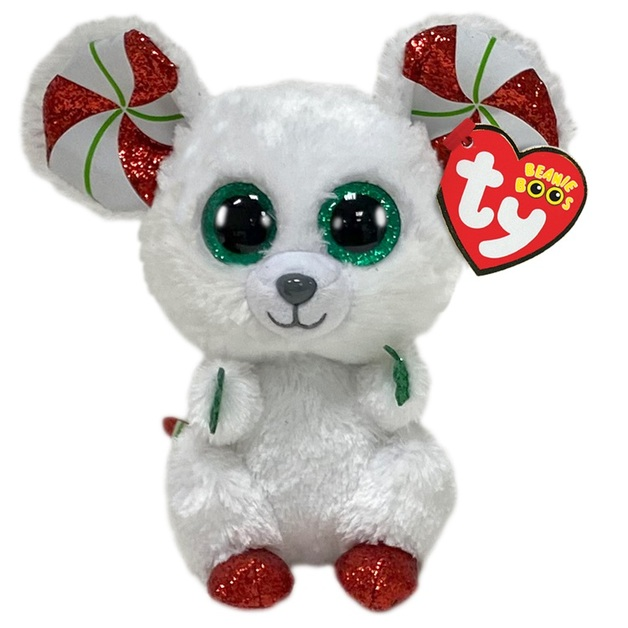 Ty Beanie Boo: Christmas Mouse - Small Plush