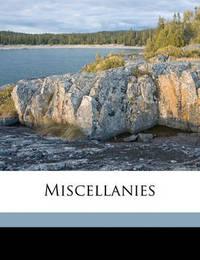 Miscellanies by Algernon Charles Swinburne