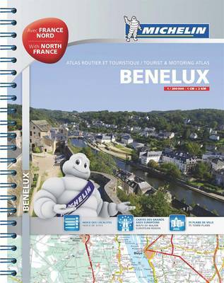Benelux & North of France Road Atlas by Michelin