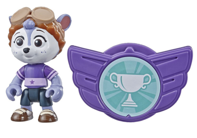 "Top Wing: Shirley Squirrely - 3"" Action Figure & Badge"