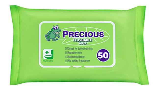Precious - Flushables Wipes (50 wipes)