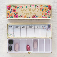 Natural Life: Daily Pill Box - Just Be Happy Today