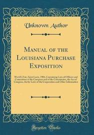 Manual of the Louisiana Purchase Exposition by Unknown Author image