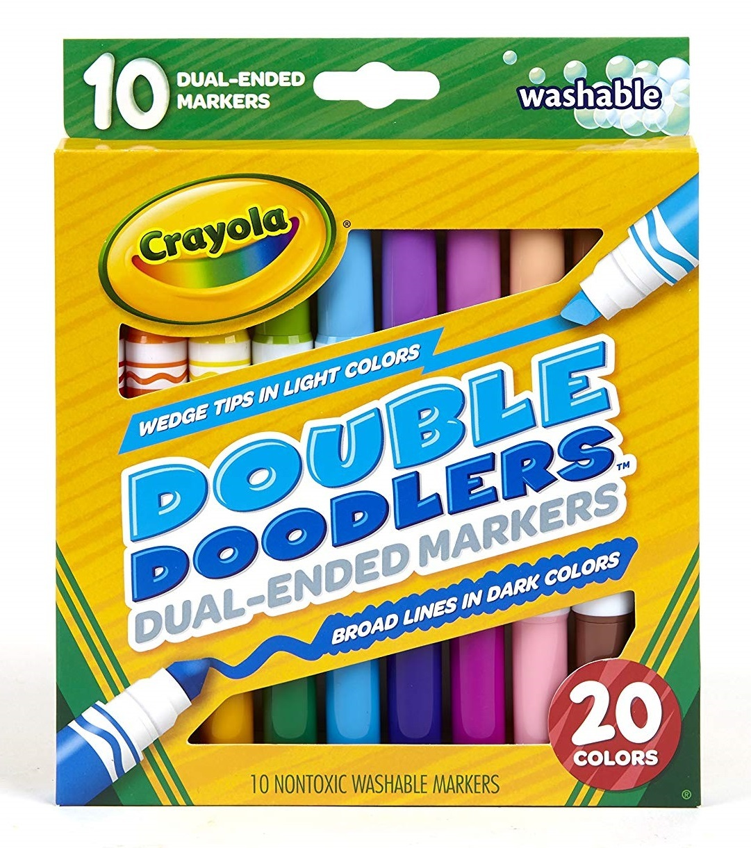 Crayola: Double Doodlers - Washable Dual-Ended Markers (10-Pack) image