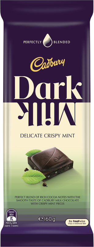 Cadbury Dark Milk Crispy Mint (150g)