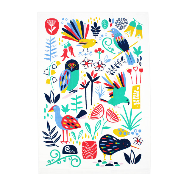 NZ Tea Towel - NZ Flora & Fauna