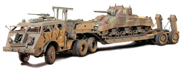 "Tamiya U.S. 40 Ton Tank Transporter ""Dragon Wagon'' 1:35 Model Kit image"