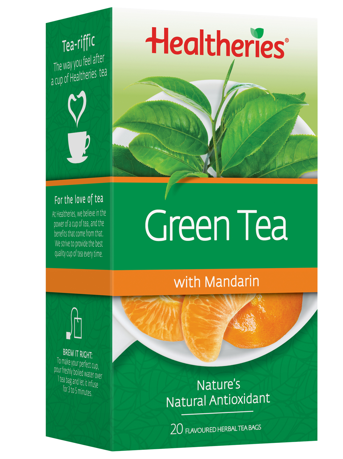 Healtheries Green Tea with Mandarin (Pack of 20) image