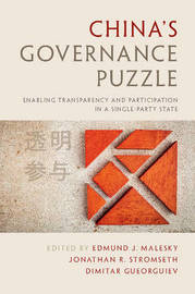 China's Governance Puzzle by Edmund J. Malesky image