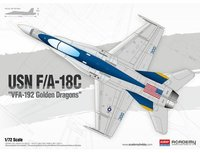 Academy 1/72 USN F/A-18c Golden Dragons - Scale Model