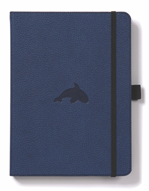 Dingbats Wildlife: A5 Blue Whale Notebook - Dotted