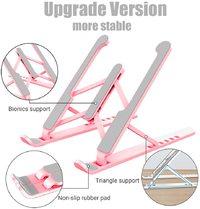 Adjustable Foldable Desktop Notebook Holder Laptop Stand - Pink