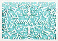 Laser Cut Thank You Notes (10 Cards/Envelopes)