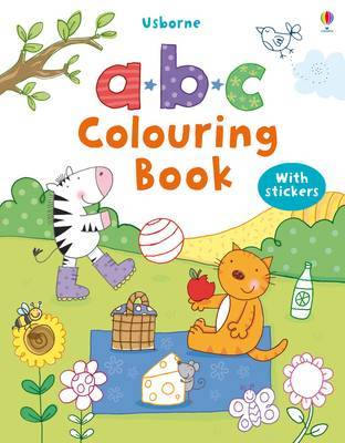 ABC Colouring Book with stickers image
