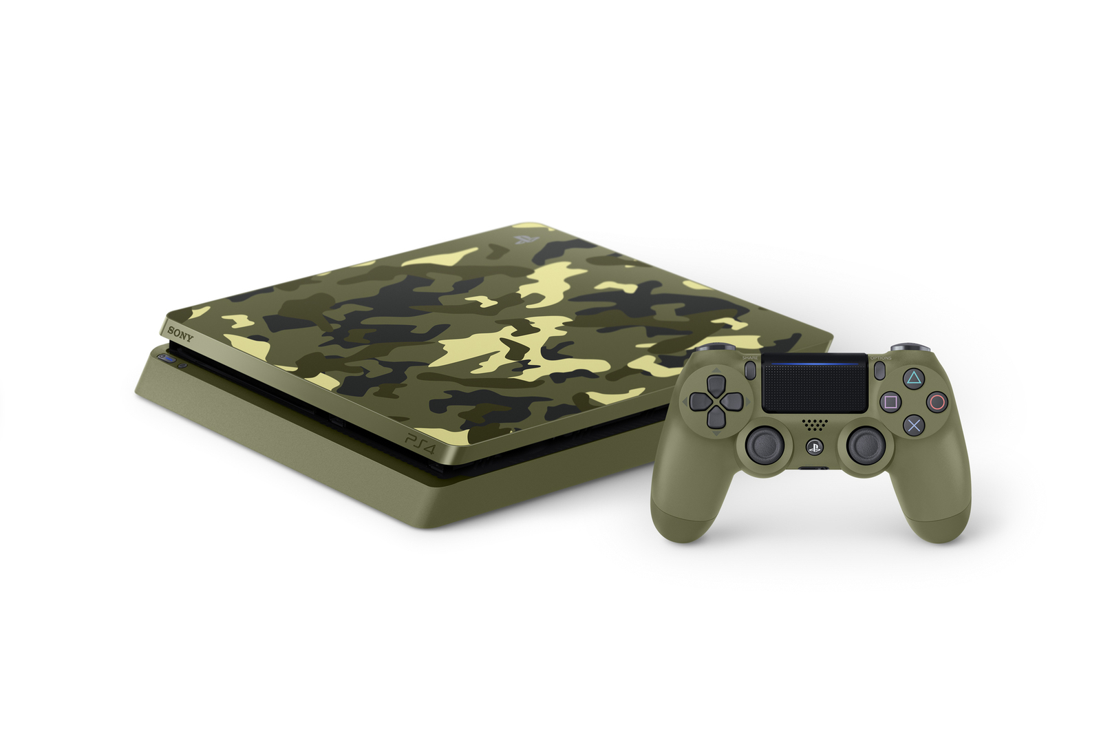 ps4 slim 1tb cod wwii limited edition console bundle