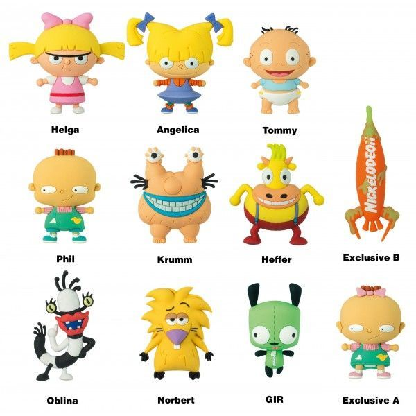 Nickelodeon - 3D Figural Keychain s02 Blind Bag