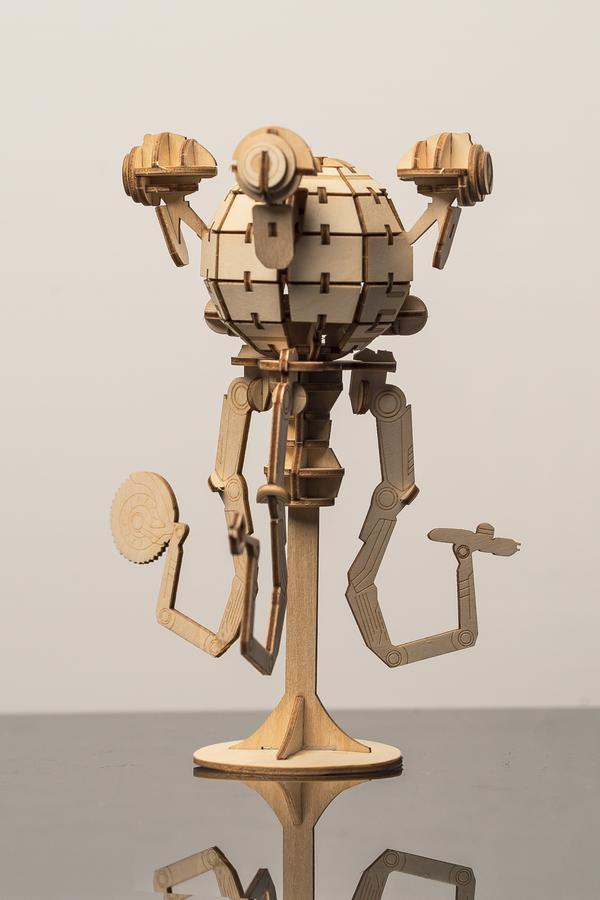 Incredibuilds: Mr Handy 3D Wood Model image