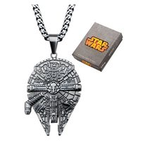 Star Wars Millennium Falcon Stainless Steel Pendant Necklace