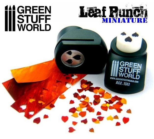 Green Stuff World - Miniature Leaf Punch (Dark Green)