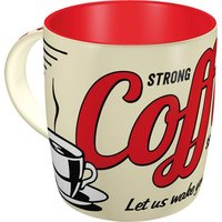 Retro Coffee Mug - Strong Coffee Served Here