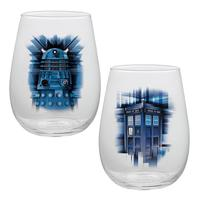 Doctor Who: Contour Glass - 2-Pack Set