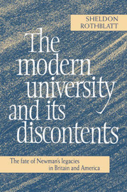 The Modern University and its Discontents by Sheldon Rothblatt image