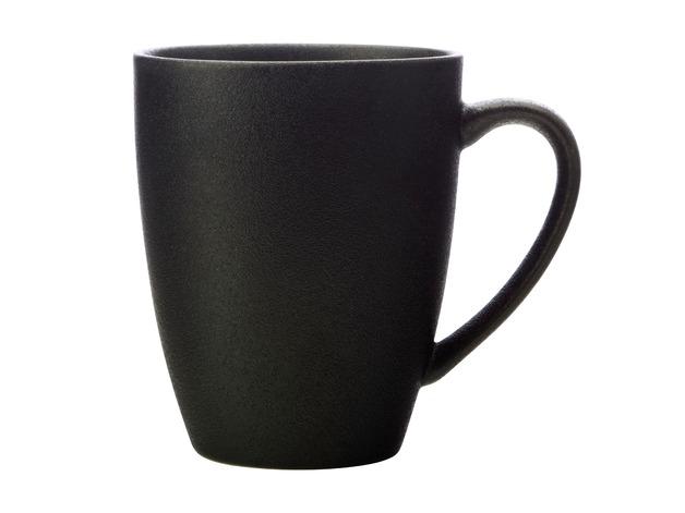 Maxwell & Williams: Caviar Coupe Mug - Black (400ml)