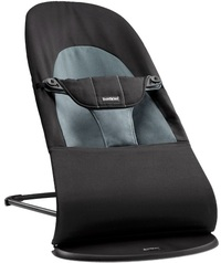 Baby Bjorn Bouncer Soft Balance Cotton (Black/Grey)
