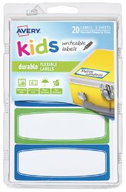 Avery: Kids Writable Labels - Green & Blue Border