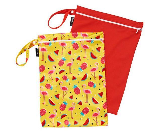 Mum 2 Mum: Wet Bag - Flamingo / Red (2 Pack)