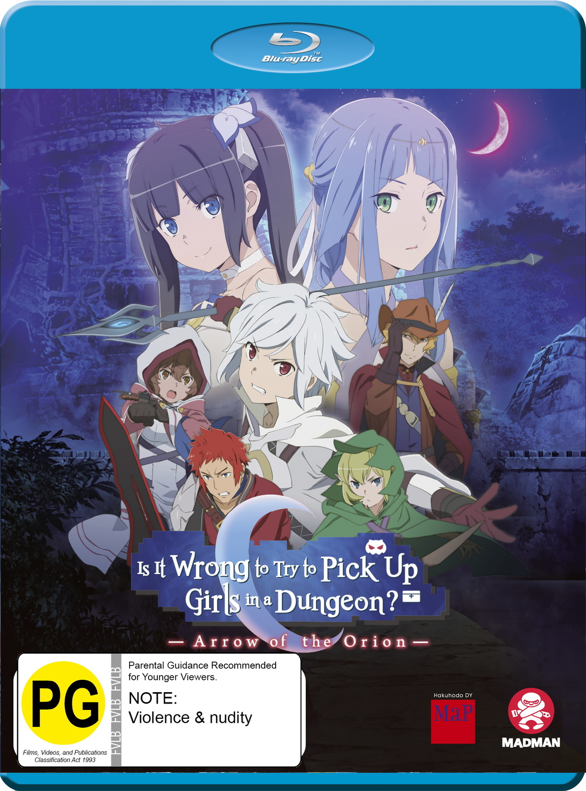 Is It Wrong To Try To Pick Up Girls In A Dungeon? Arrow of The Orion on Blu-ray image