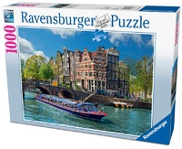 Ravensburger 1000 Piece Jigsaw Puzzle - Canal Tour in Amsterdam