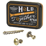Gents Hardware: Cufflinks and Tie Pin Set