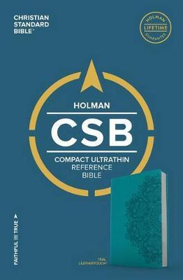CSB Compact Ultrathin Bible, Teal LeatherTouch by Csb Bibles by Holman