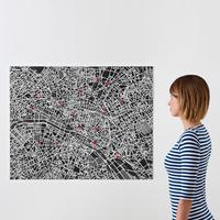 Palomar PinCity Felt Travel Map - Paris