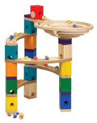 Quadrilla Wood Marble Run Set - Basic 99pc