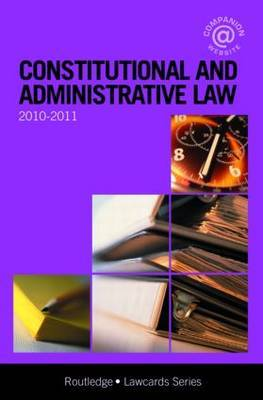 Constitutional and Administrative Lawcards: 2010-2011 by Routledge Chapman Hall image