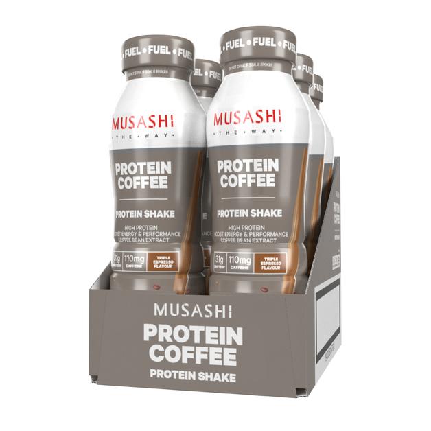 Musashi Protein Coffee RTD Shake (6x375ml)