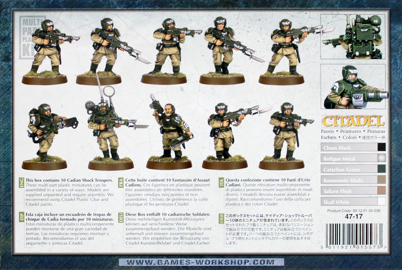 Warhammer 40,000 Imperial Guard Cadian Shock Troops image