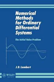 Numerical Methods for Ordinary Differential Systems by J.D. Lambert image