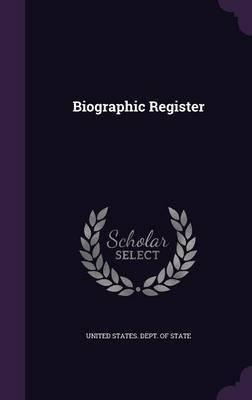 Biographic Register image