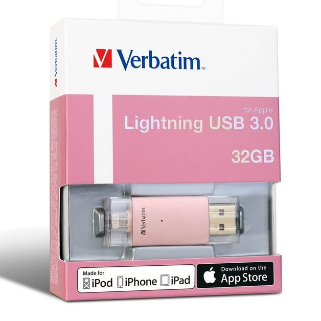 Verbatim Apple Lightning USB 3.0 Drive - 32GB (Rose Gold)