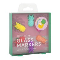 Sunnylife Pineapple Glass Markers image