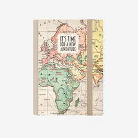 Map 2019 A6 Daily Diary with Notebook