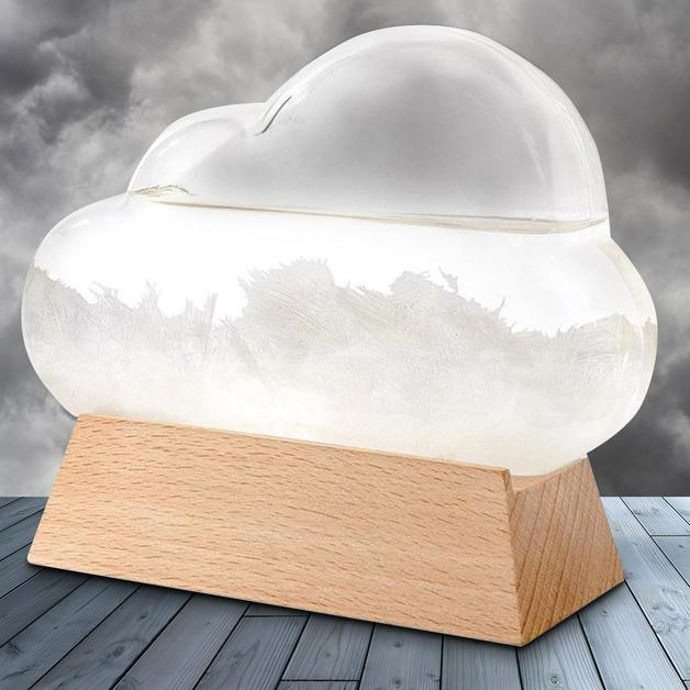 Cloud Storm Glass Weather Forecast Station
