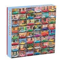 Galison: 500 Piece Puzzle - Muchos Autos image